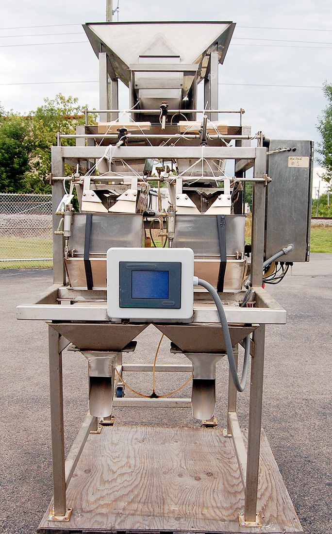 used OHLSON MODEL 2L2-SS LINEAR WEIGHER food grade stainless steel netweigh filler, Alard item Y2814